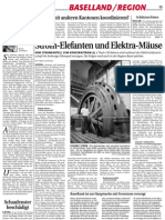 (German) Utilities' transformation from electricity monopoly to power markets in northwest Switzerland, award stories by Marc Gusewski, published in 2000