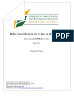 Behavioral Responses to Natural Disasters