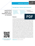 Mortalidad Asociada a Intoxicaciones agudas, en un Hospital de Táchira, en Venezuela