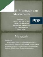 Musaqah, Muzara'ah dan Mukhabarah