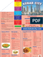 Kebab City Menu
