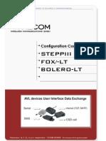 SteppIII Fox Bolero Lt PFAL Configuration Command Set 2.6.3 01