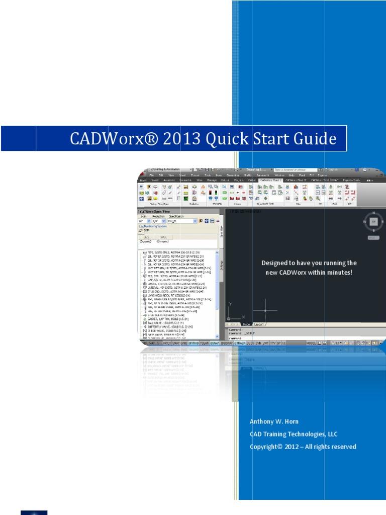 cadworx plant 2010 manual