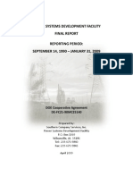 Power Systems Development Facility (PSDF) Final Report (1990 - 2009)