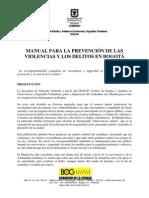 Manual Para La Prevencion de Delitos
