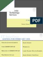 IT Briefing 2008-02-21