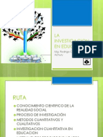 La Investigacion en Educacion- Inv Cantitativa