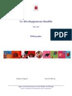 Bibliographie Developpement Durable Web - Mars 2008