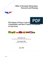 Impact of Peace Corps Service -OSIRP  |  June 2010