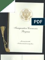 Inaugural Ceremony Program, 1993