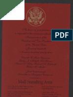 Inaugural Ceremony Ticket, 1993