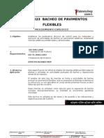 EC.01.PE.023 Bacheo de Pavimentos Flexibles