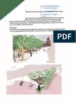 Aprovechamiento de carril inutilizado de Plaza de España para Zona Infantil Ajardinada