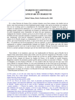 Valsan - Remarques Occasionnelles Sur Jeanne d'Arc...