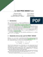 Sas Proc Mixed