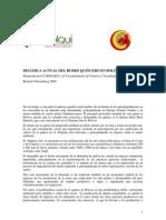 Dinamica Actual Del Rubro Quinuero en Bolivia