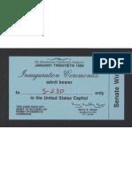 Inauguration Ticket, 1989