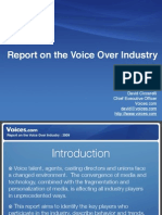 Report on the Voice Over Industry 2009
