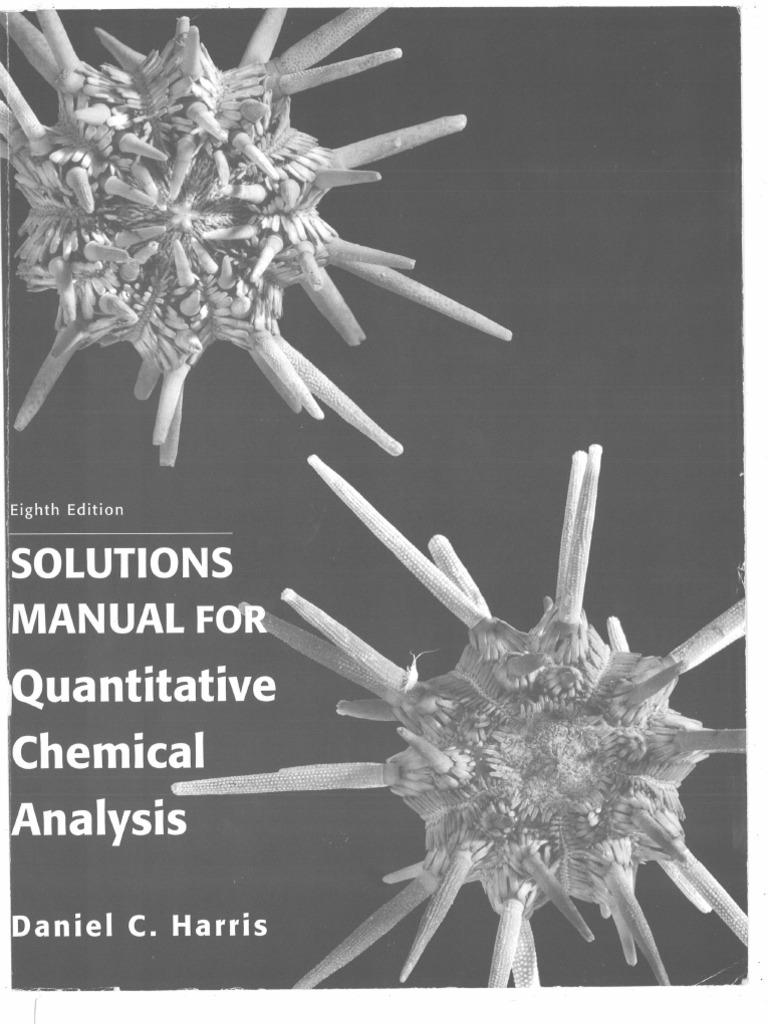 harris quantitative chemical analysis 8th edition solutions manual pdf