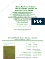 Citronelle Dome CO2 EOR Pilot Test and Opportunities for CO2 Storage