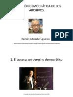 DIMENSIÓN DEMOCRÁTICA DE LOS ARCHIVOS