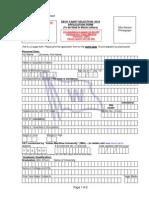 Deck Cadet Appllication Form