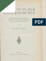 Louis Lewin - Die Gifte in Der Weltgeschichte [1920]