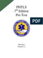 PHTLS 7th Edition Pretest Ver 1 3 Jan 2011