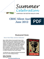 Silent Auction Summer 2012