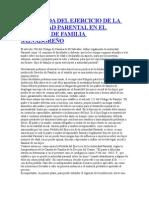 LA PERDIDA DEL EJERCICIO DE LA AUTORIDAD PARENTAL EN EL DERECHO DE FAMILIA SALVADOREÑO