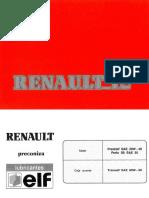 Manual Renault 12 1990