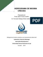 HIDROGRAMA DE MÃXIMA CRECIDA