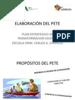 ELABORACIÓN DEL PETE