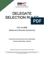 DNC Delegate Selection Rules 2008