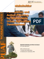 Action Planning for Sustainable Urban Agriculture Development