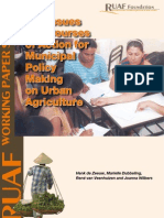Courses of Action for Municipal Policy Making on Urban Agriculture