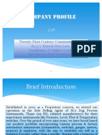 Company Profile of Twenty First Century Communications, Howrah[20.4.12]
