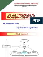 C8 DE LAS VARIABLES AL PROBLEMA CIENTÍFICO