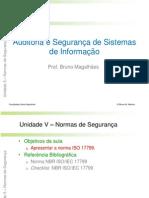 Auditoria e Segurança - Unidade 5 V1.0 - Normas de Segurança