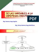 C9 DE LAS VARIABLES A LA HIPÓTESIS CIENTÍFICA