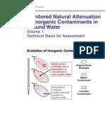 Monitored Natira; Attenuation of Inorganic Contaminants in Ground Water - Vol 1