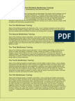 Five wonderful mindfulness trainings