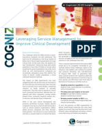 Leveraging Service Management to Improve Clinical Development Operations