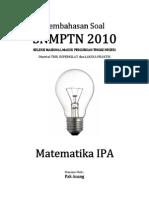Pembahasan Soal SNMPTN 2010 Matematika IPA Kode 546