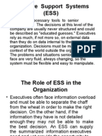 Executive Support Systems (ESS)