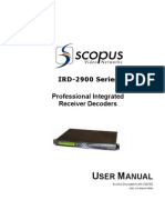 IRD 2900 - User Manual