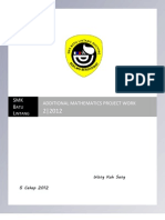 Additional Mathematics Project 2.2012 Sarawak