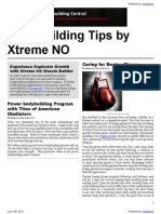 Bodybuilding Tips by Xtreme NO