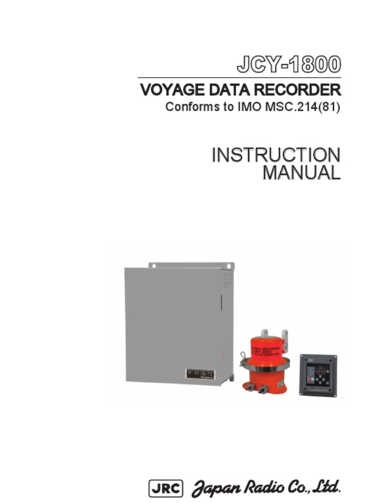 Voyage Data Recorder : Jrc jcy vdr instruction manual power supply