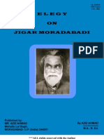 Elegy on Jigar Moradabadi